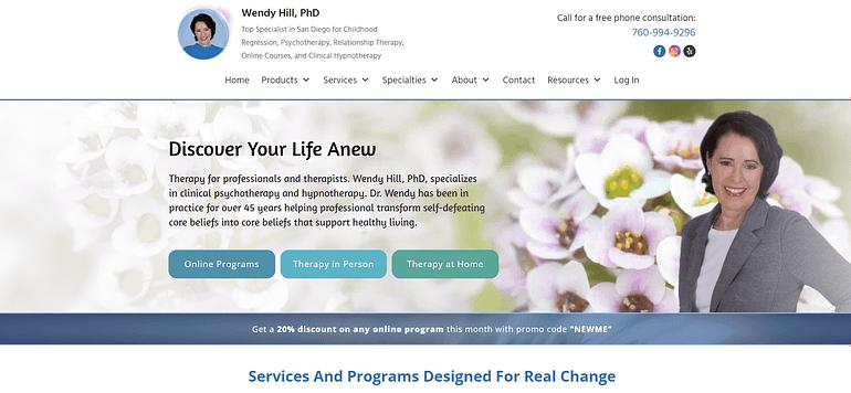 Wendy Hill PhD homepage