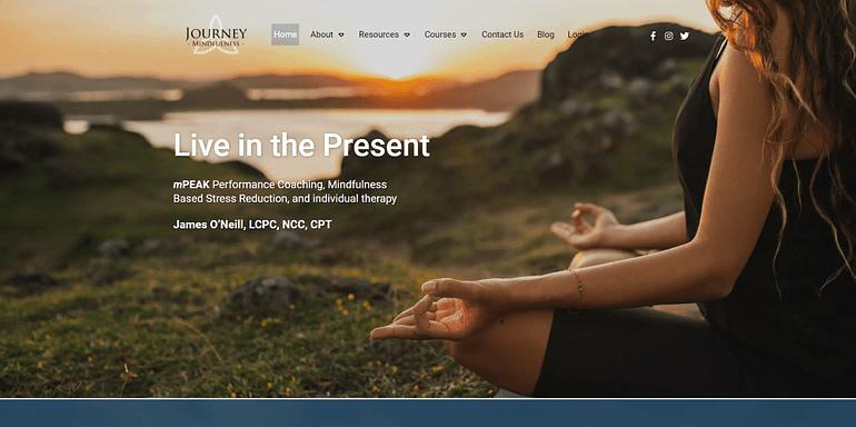 Journey Mindfulness homepage