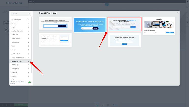 How to add Page Block templates inside Thrive Architect.