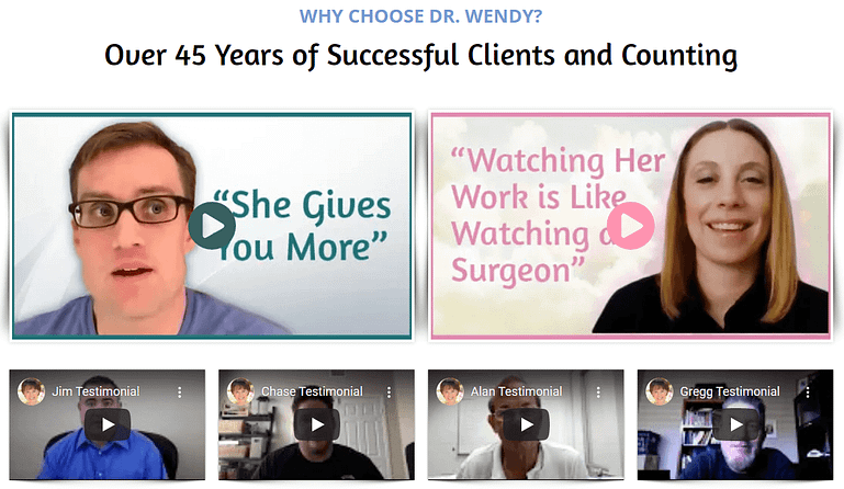 Video testimonials in WordPress