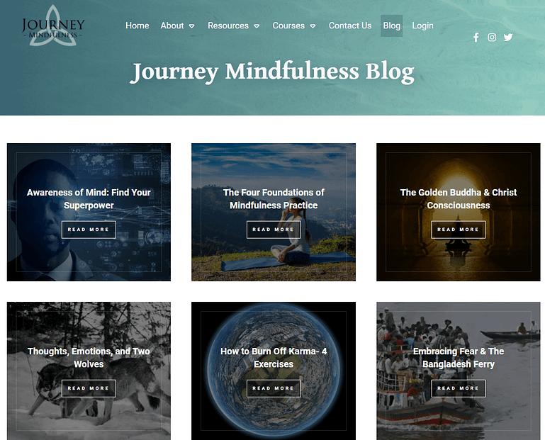 Dynamic blog homepage design