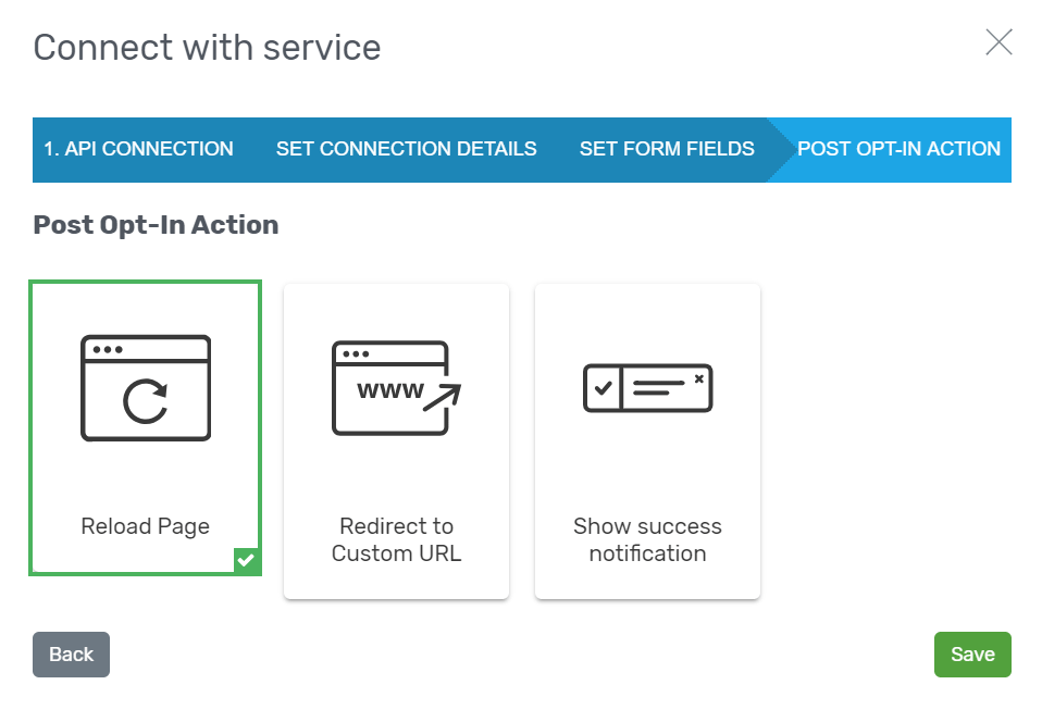 Connect with service