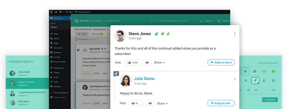 Thrive Comments Plugin Design