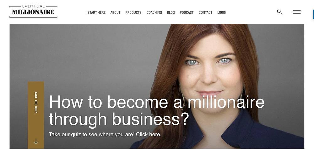 "Jamie Masters's ""Eventual Millionaire"" homepage quiz"