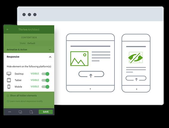 Edição responsiva fácil para dispositivos móveis