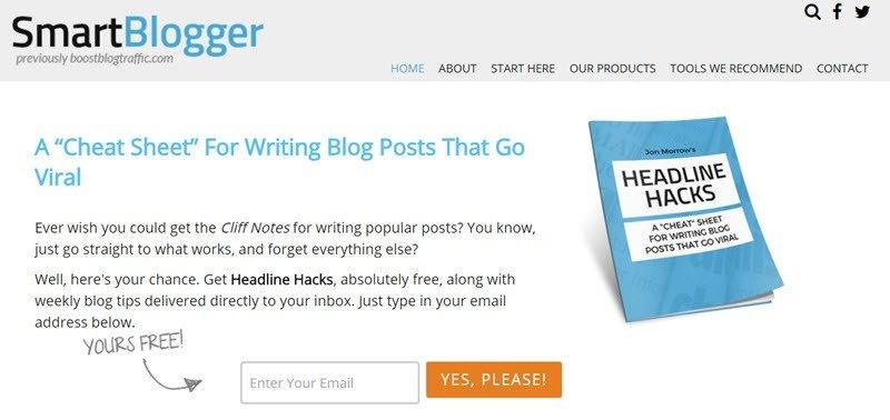 smartblogger opt in offer