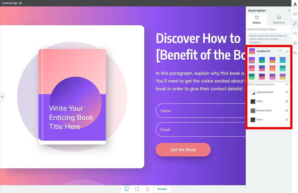 Ebook Landing Page Smart Color Technology