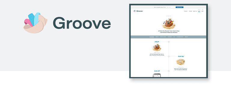 Content Types on Groove's Website