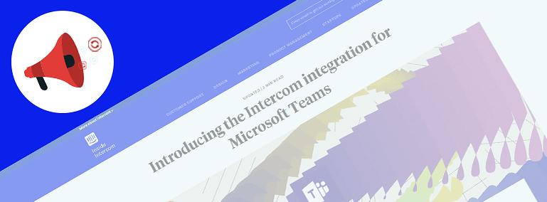 Product Update Content Type on Inside Intercom's Website