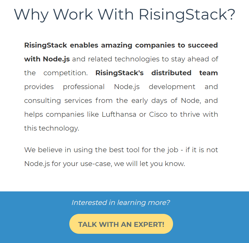 call-to-action examples RisingStack