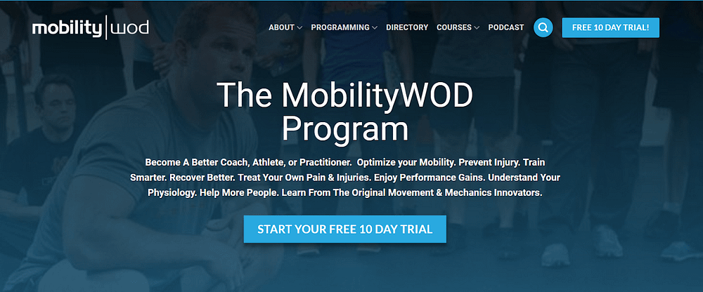 Call-to-action examples MobilityWOD