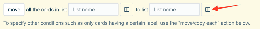 The icon for targeting other boards in Trello